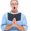 Singing his praises - Stock Photo