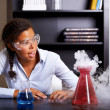 Making a chemical volcano! - Stock Photo