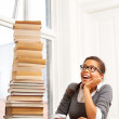 Royalty-Free Stock Photo: Excited about reading!