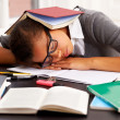 Napping in class - Stockfoto