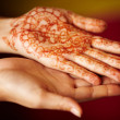 Traditional henna painting -  