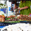 Making traditional Thai street food - Stock Photo