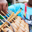 Wares on display - Street vendor - Stock Photo