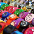 Royalty-Free Stock Photo: Colorful watches on sale