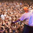 Sharing his passion - Rock star - Stock Photo