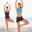 Balancing healthy mind and body - Stockfoto