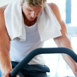 Royalty-Free Stock Photo: Focused on completing his workout