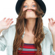 Mustache with hair - Stock Photo