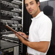 Evaluating the server&#039;s efficacy - Stock Photo