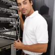 You can trust him with your networking needs - Foto de Stock