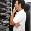Royalty-Free Stock Photo: Organizing the server room