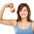 An apple a day is my mantra! - Stock Photo