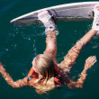 Waiting for her next tow - Wakeboarding - Stock Photo