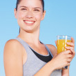 Orange juice is so refreshing - Stock Photo