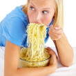 Guilty pleasures - Over-eating - Stock Photo