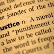 Stock Photo: Definition of Justice
