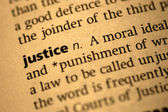 Definition of Justice — Foto de Stock