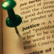 Definition of Justice — Stock Photo #12176728