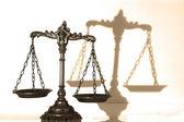 декоративные весы правосудия — Стоковое фото