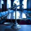 Decorative Scales of Justice in Courtroom — Stock Photo #14167852