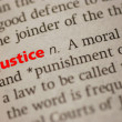 Definition of Justice — Stock Photo