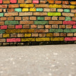 Grunge colorful wall background — Stock Photo