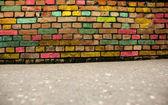 красочные стены гранж-фон — Стоковое фото