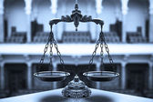 Decorative Scales of Justice — Foto Stock