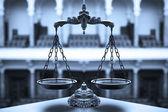 Dekorativní váhy spravedlnosti — Stock fotografie