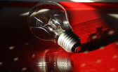 Red light bulb — Stock fotografie