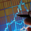 Analyzing Stock Market Chart — Stock Photo