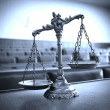 Decorative Scales of Justice in the Courtroom — Stock Photo #36668347