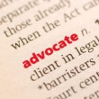 Definition of advocate — Stock Photo