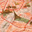 Old Paris city map — Stock Photo #38112935