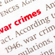Stock Photo: Definition of War crimes