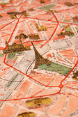 Old Paris city map — Stock Photo