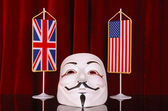 UK and USA anonymous — Stock Photo