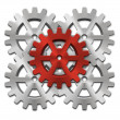 Close-up of Machine Gears — Stock Photo #13693498