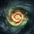 Incredibly beautiful spiral galaxy somewhere in deep space - Foto Stock