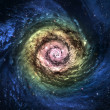 Incredibly beautiful spiral galaxy somewhere in deep space — Stock Photo #16533101