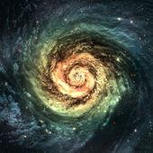 令人难以置信的美丽的螺旋星系,在宇宙深处的某个地方 — 图库照片