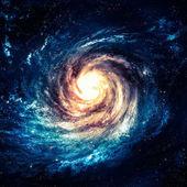深宇宙のどこかで信じられないほど美しい渦巻銀河 — ストック写真