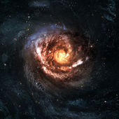 Incredibly beautiful spiral galaxy somewhere in deep space — Stok fotoğraf