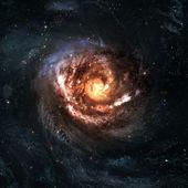 Ongelooflijk mooi spiraalvormig sterrenstelsel ergens in deep space — Stockfoto