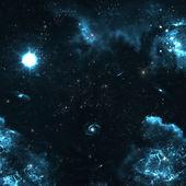 Campo de estrellas en el espacio profundo muchos años luz lejos de la tierra — Foto de Stock