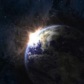 Ziemi z wschodzącego słońca — Zdjęcie stockowe