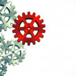 Close-up of Machine Gears — Stock Photo