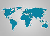 Image of a light blue world map — Stock Photo