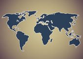 Image of a stylized world map — Stock Photo