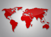 Image of a light red world map — Stock Photo